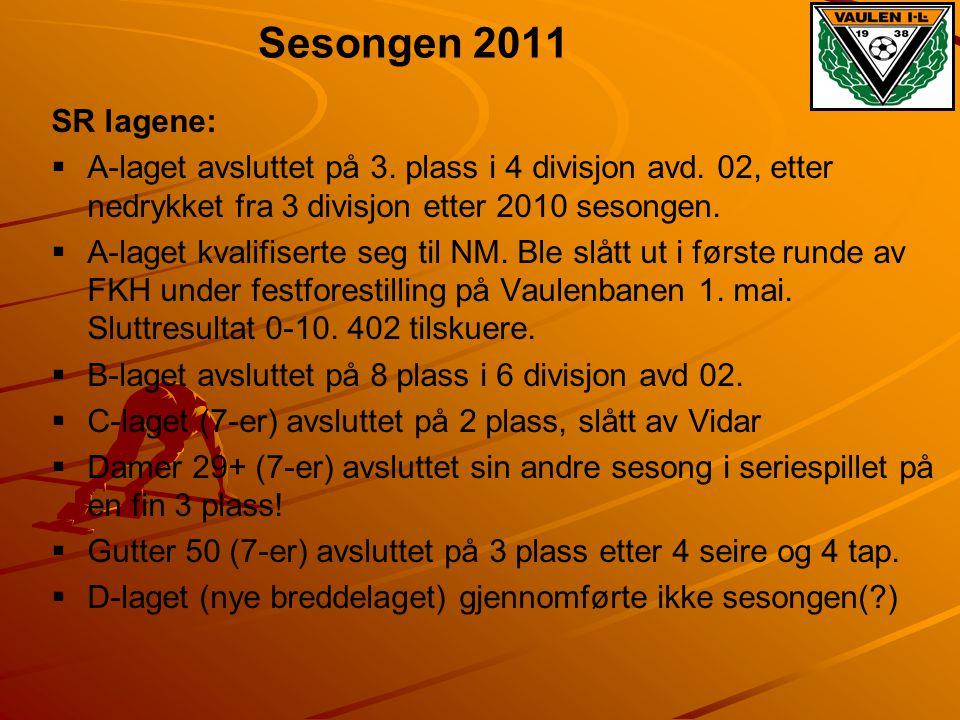 Sesongen 2011 SR lagene:   A-laget avsluttet på 3. plass i 4 divisjon avd. 02, etter nedrykket fra 3 divisjon etter 2010 sesongen.   A-laget kvali
