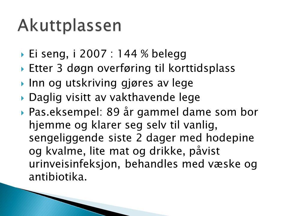 DiagnoserAntall Kjønn Und er 70 år 70-8080-90 år > 90 årInnlagt fra omsorgsb.