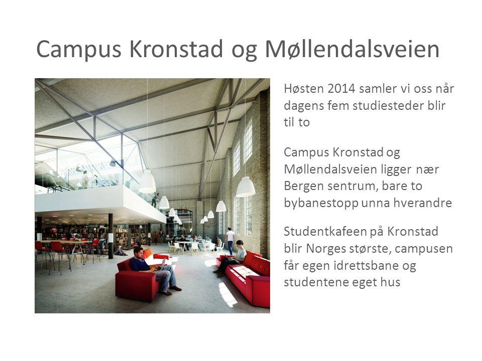 Campus Kronstad og Møllendalsveien Høsten 2014 samler vi oss når dagens fem studiesteder blir til to Campus Kronstad og Møllendalsveien ligger nær Ber