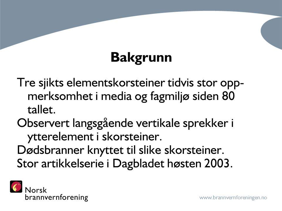 www.brannvernforeningen.no Bakgrunn forts.Farlige elementskorsteiner 1969 – 1987.