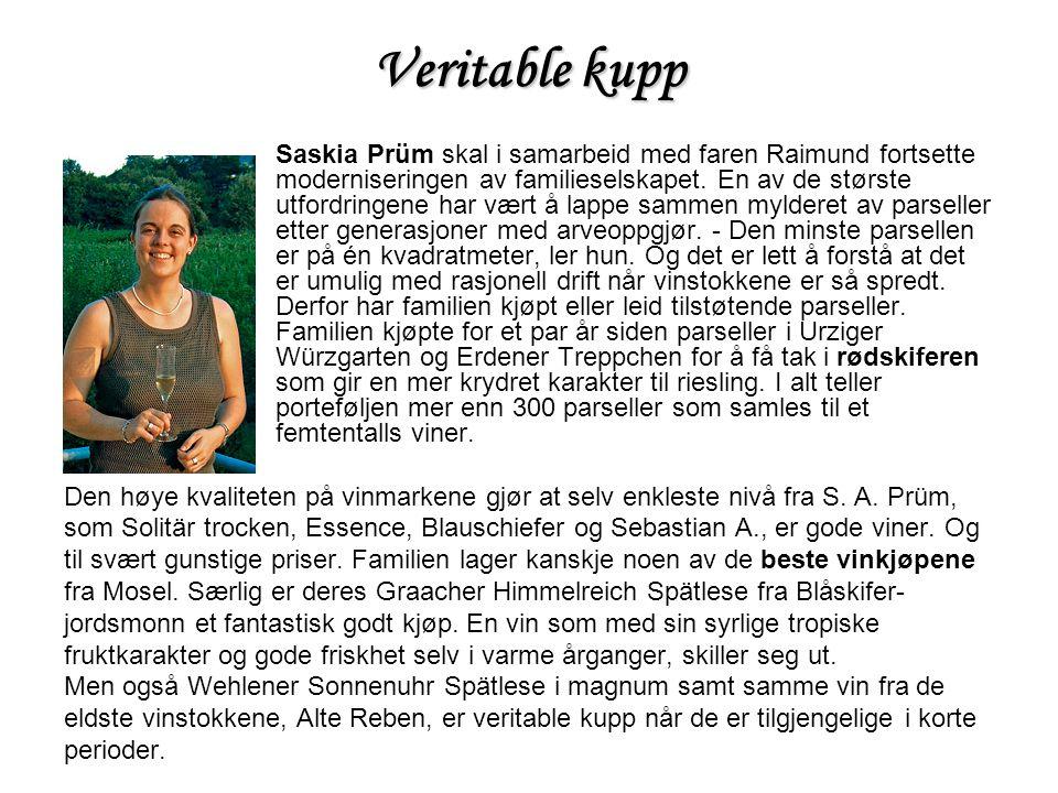 Veritable kupp Saskia Prüm skal i samarbeid med faren Raimund fortsette moderniseringen av familieselskapet. En av de største utfordringene har vært å