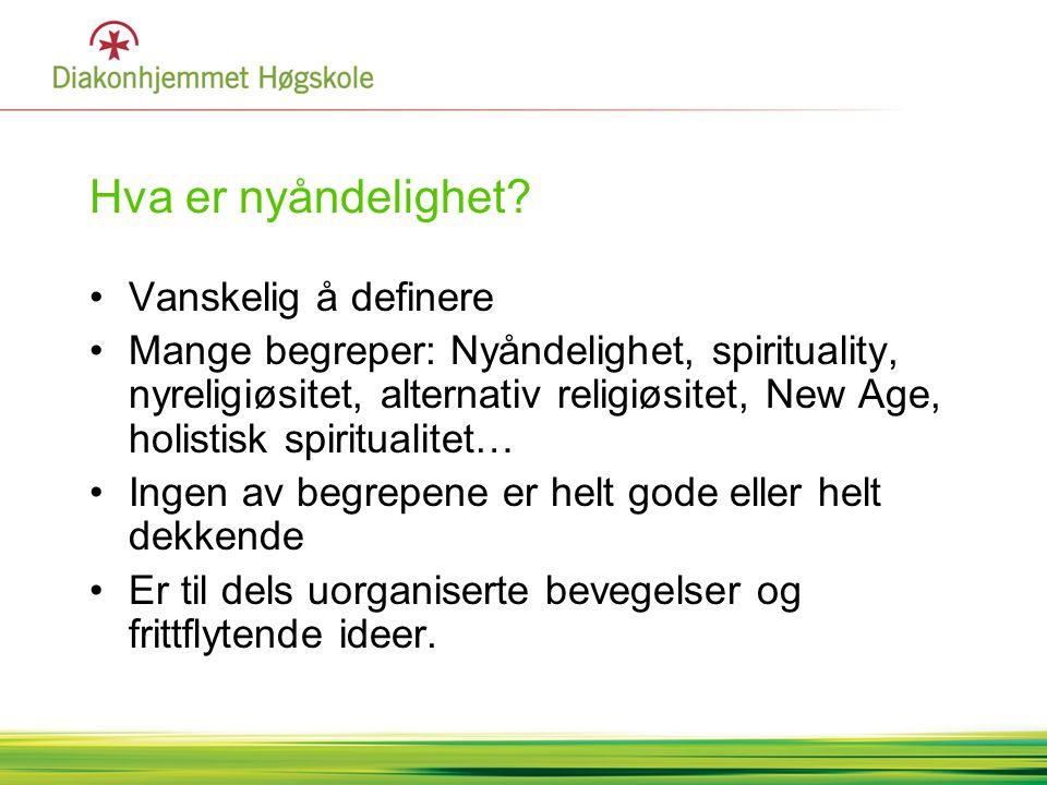 Møte med nyåndelige •Harry Månsus: Pyramide •1.Nyreligiøse organisasjoner, ideologi •2.