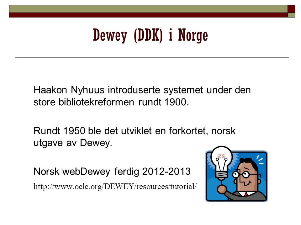 Lokal tilpasning Dewey brukt som grunnlag for kategorisering Hus og hjem Livssyn
