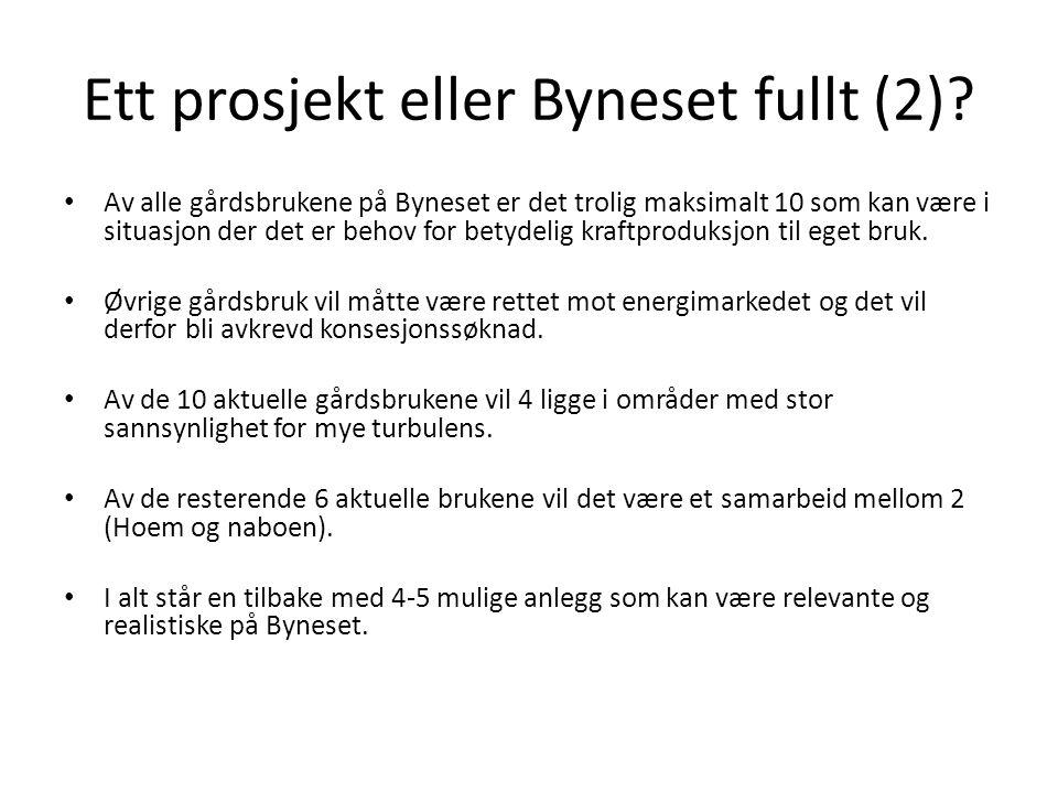 Ett prosjekt eller Byneset fullt (2).