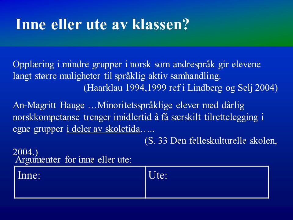 Man lærer et språk ved å bruke det i naturlige ekte kommunikasjon (Eks. Manne 1990). Språk læres gjennom å bli brukt (Baker 1996). Det er viktig at de