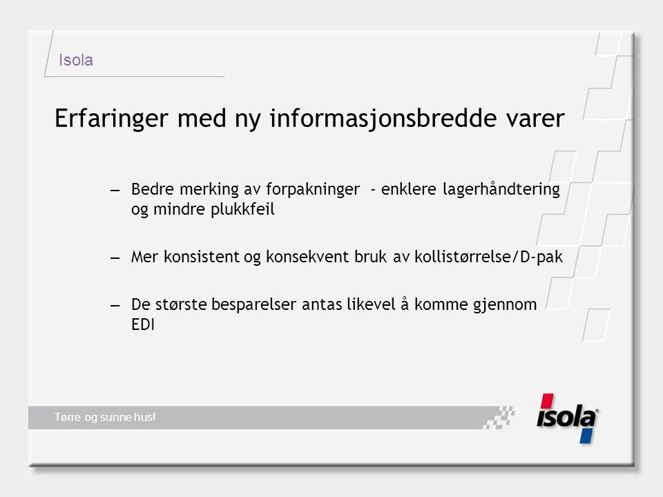 Isola Tørre og sunne hus.