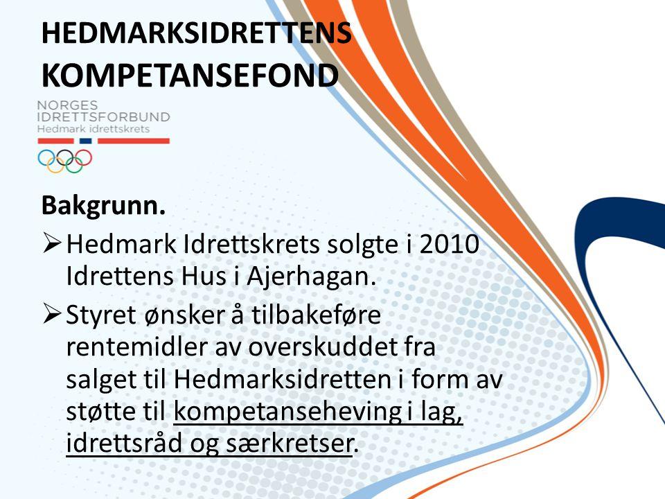 HEDMARKSIDRETTENS KOMPETANSEFOND Bakgrunn.