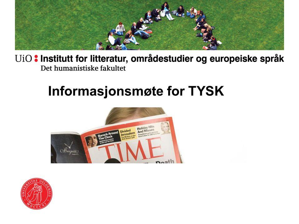 Informasjonsmøte for TYSK