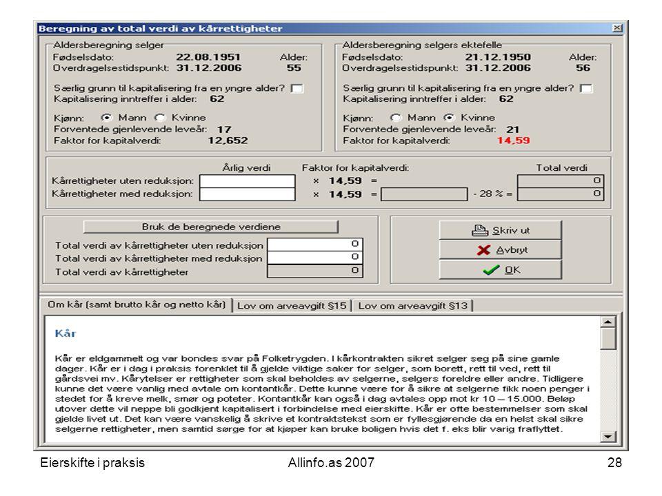 Eierskifte i praksisAllinfo.as 200728