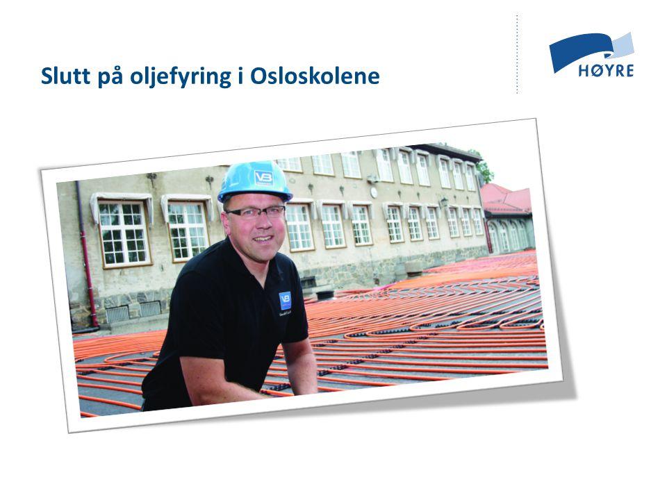 Slutt på oljefyring i Osloskolene