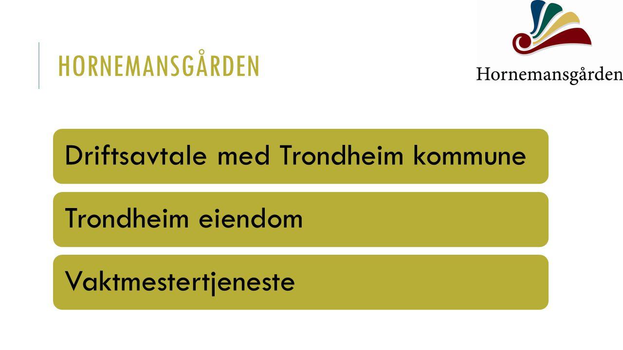 Driftsavtale med Trondheim kommuneTrondheim eiendomVaktmestertjeneste HORNEMANSGÅRDEN