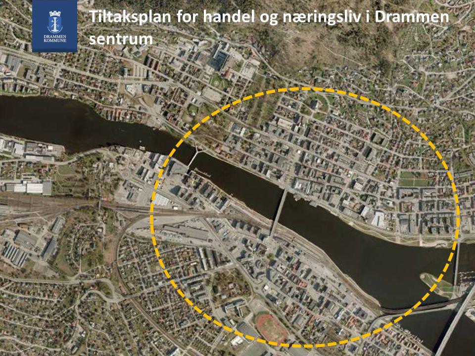 Øvre Sund bru åpner i 2011, vurdering av bruk av gamle bybru pågår nå Tiltaksplan for handel og næringsliv i Drammen sentrum