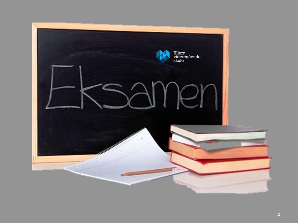 Varsel om skriftlig trekkfag • Torsdag 15.mai kl.