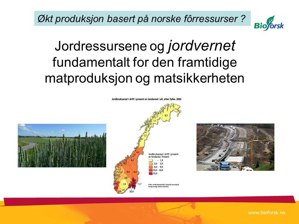 Jordressursene og jordvernet fundamentalt for den framtidige matproduksjon og matsikkerheten Økt produksjon basert på norske fôrressurser ?