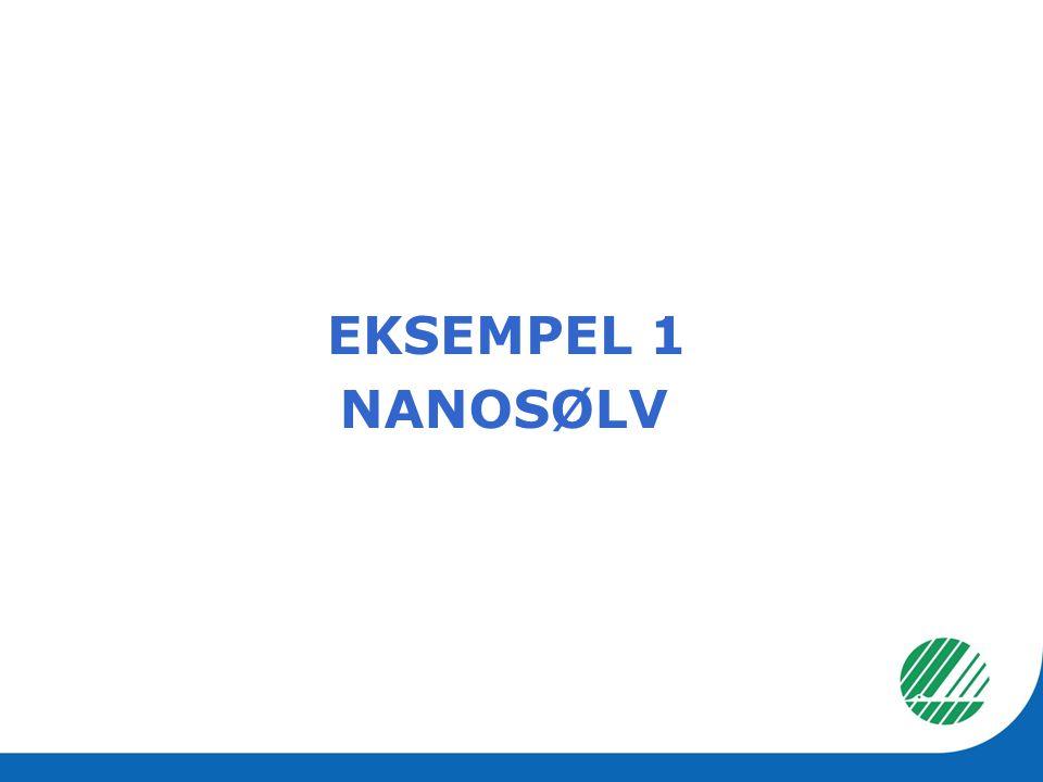 EKSEMPEL 1 NANOSØLV