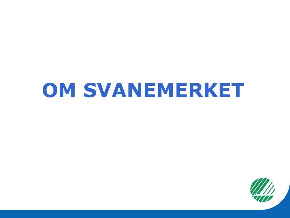 Offisielt nordisk miljømerke Opprettet av Nordisk Ministerråd i 1989 I Norge: Stiftelsen Miljømerking opprettet av Barne-, likestillings- og inkluderingsdepartementet for å forvalte merket