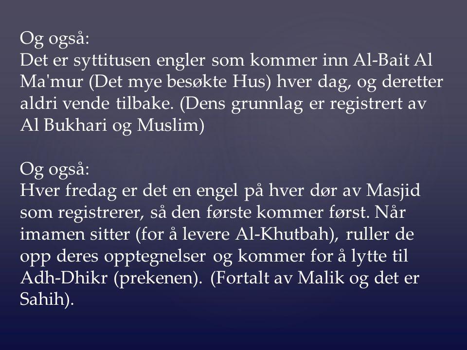 De største av disse bøkene er de fire bøkene, dvs: Koranen som ble åpenbart til Profeten Muhammad ( ﷺ ); Tawrah som ble åpenbart til Allahs Profeten Musa, Zabur som ble åpenbart til Allahs Profeten Dawud, Injil som ble åpenbart til Allahs Profeten Isa.