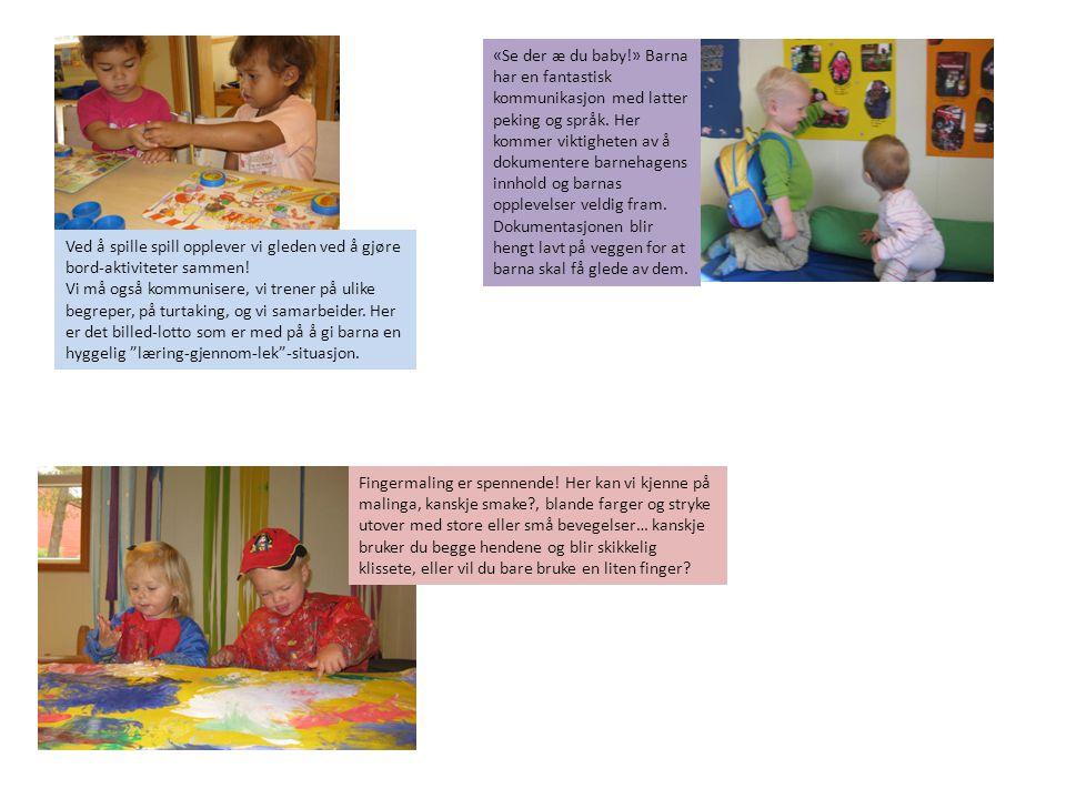 Ved å spille spill opplever vi gleden ved å gjøre bord-aktiviteter sammen! Vi må også kommunisere, vi trener på ulike begreper, på turtaking, og vi sa