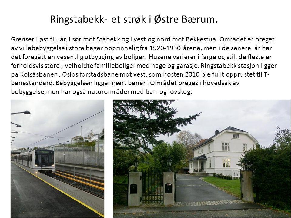 Ringstabekk, opprinnelig Øvre Stabæk gård • Ringstabekk- navn etter Jens Ring som kjøpte Øvre Stabekk gård 1838.