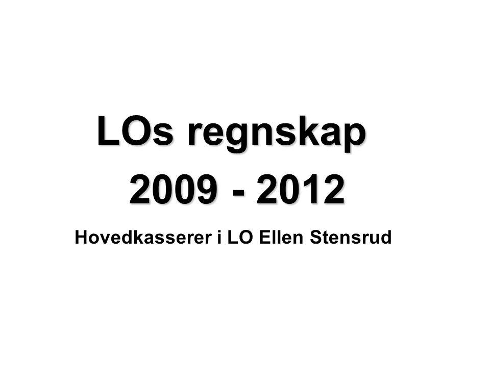 Hovedkasserer i LO Ellen Stensrud LOs regnskap 2009 - 2012 2009 - 2012