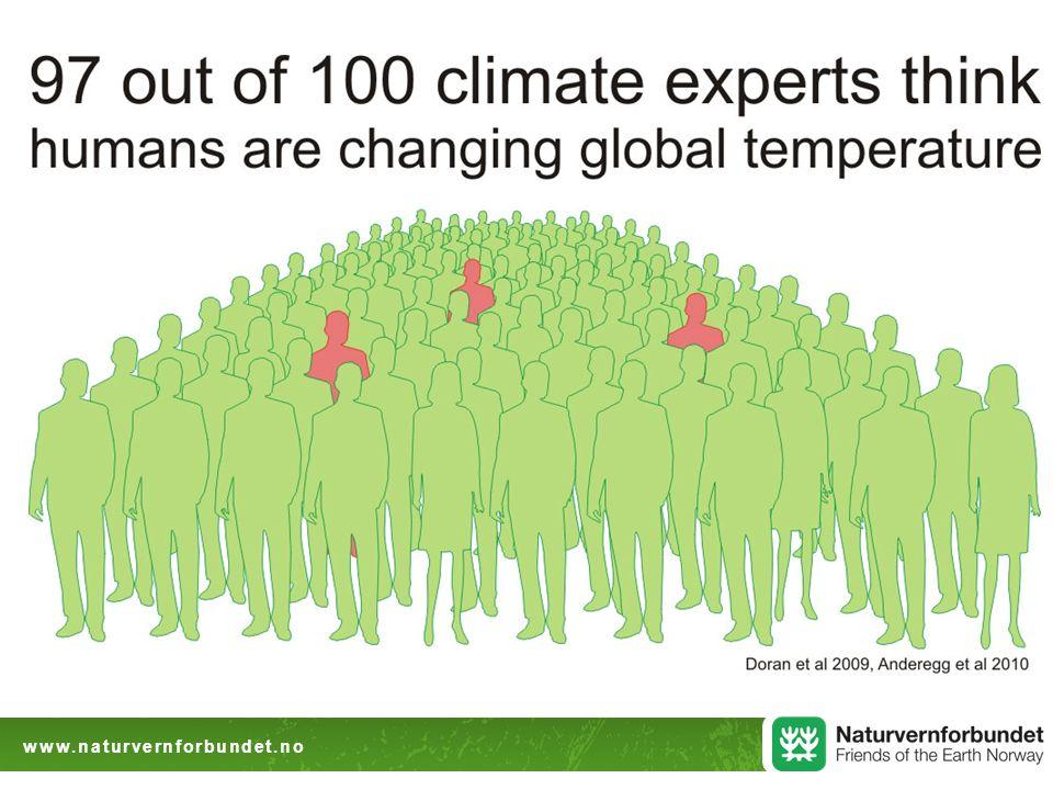Utgangspunktet  Drivhusårhundret vil bli preget både av omstilling og utslippskutt, og av tilpasning til uunngåelige konsekvenser  Spørsmålet er ikke konsekvenser eller ikke, men hvor store, håndterlige eller uhåndterlige.