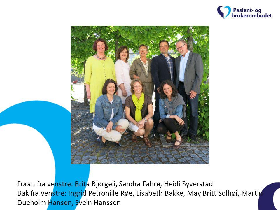 Fagernes-seminaret 2014 Pasient- og brukerombud i Hedmark og Oppland Sandra Fahre