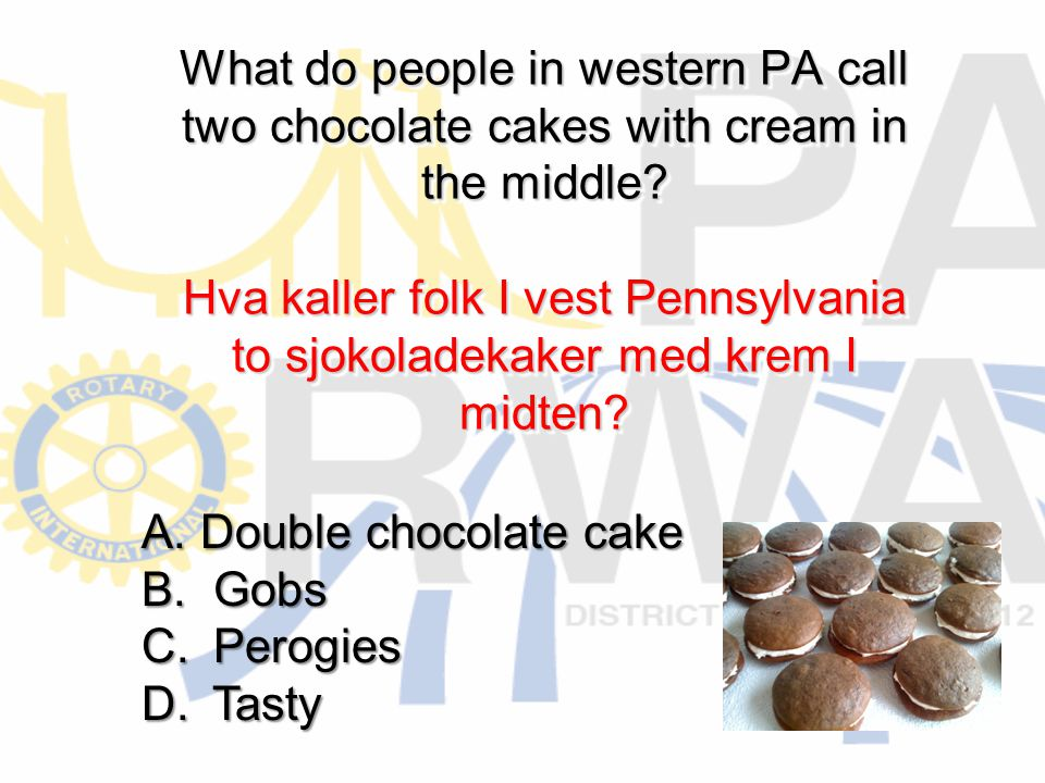 What do people in western PA call two chocolate cakes with cream in the middle.