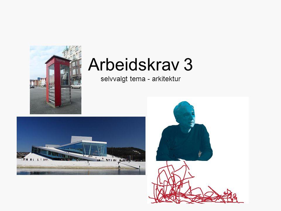 Arbeidskrav 3 selvvalgt tema - arkitektur