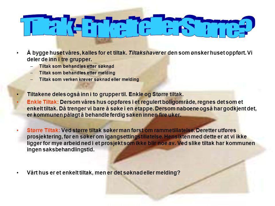 •Krav om søknad gjelder oppføring, tilbygging, påbygging, underbygging eller plassering av bygning.