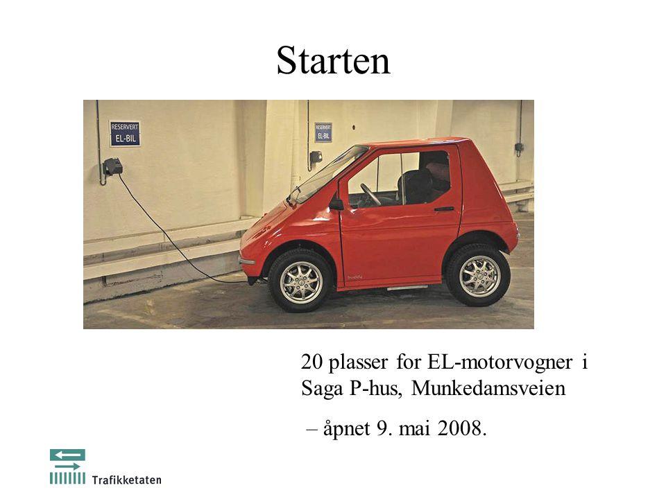 Starten 20 plasser for EL-motorvogner i Saga P-hus, Munkedamsveien – åpnet 9. mai 2008.