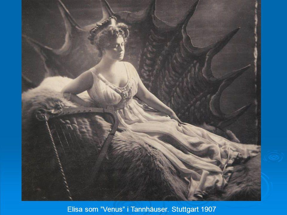 "Elisa som ""Venus"" i Tannhäuser. Stuttgart 1907"