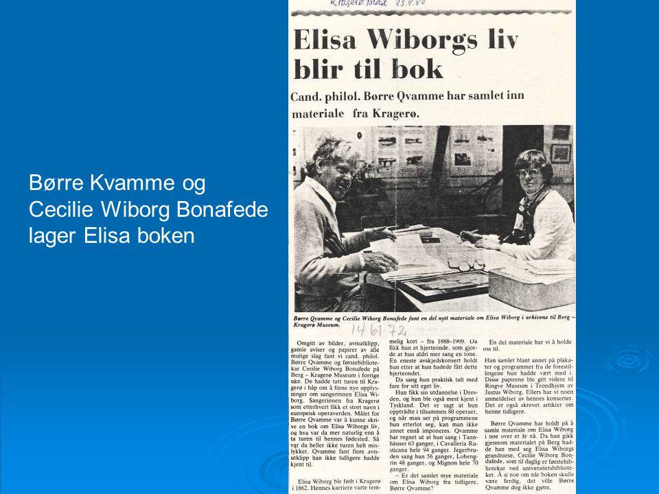 Børre Kvamme og Cecilie Wiborg Bonafede lager Elisa boken