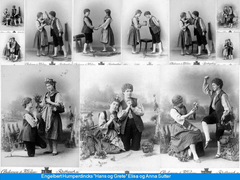 "Engelbert Humperdincks ""Hans og Grete"" Elisa og Anna Sutter"