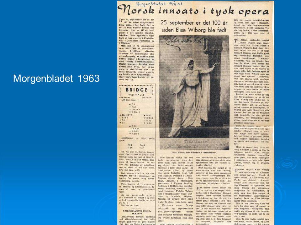 Morgenbladet 1963