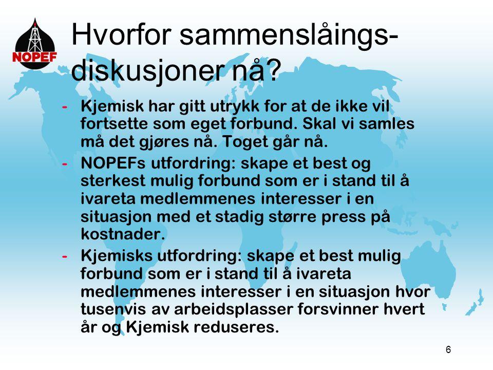 17 Spørsmål til debatt  6.Hva slags betydning har det å ha et forbundskontor i Stavanger.