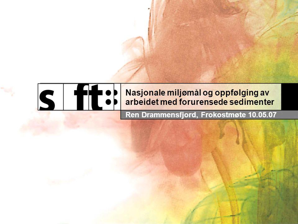 Nasjonale miljømål og oppfølging av arbeidet med forurensede sedimenter Ren Drammensfjord, Frokostmøte 10.05.07