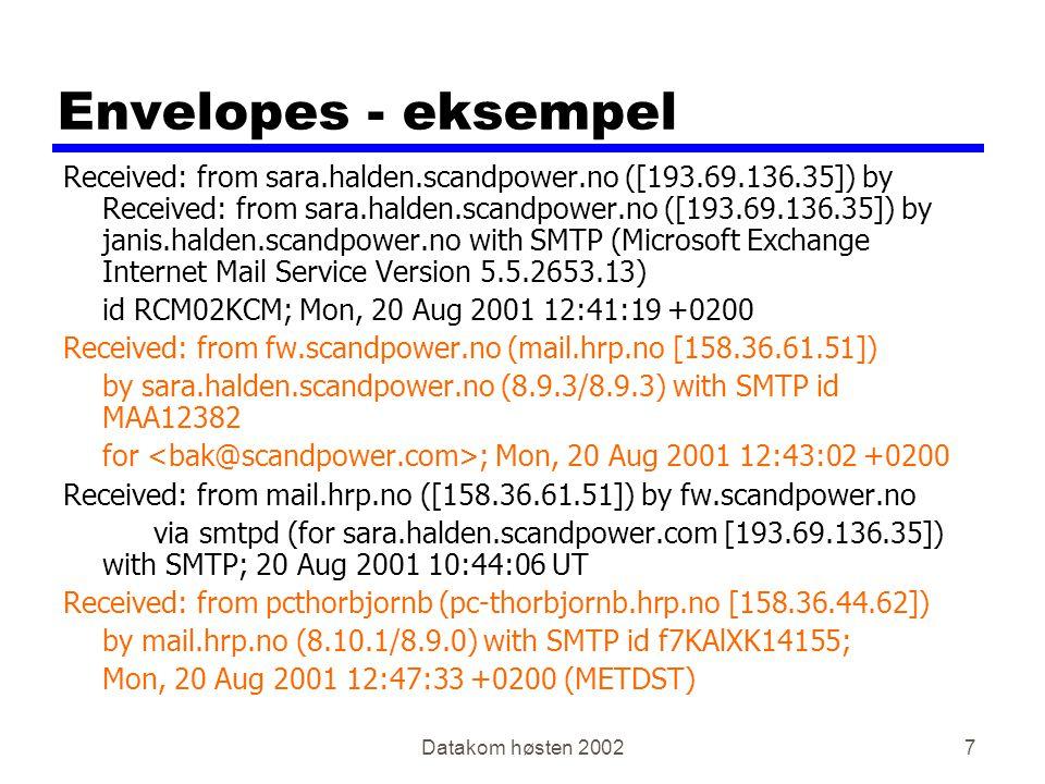 Datakom høsten 200258 IP addresses: how to get one.