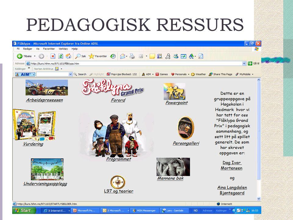 PEDAGOGISK RESSURS
