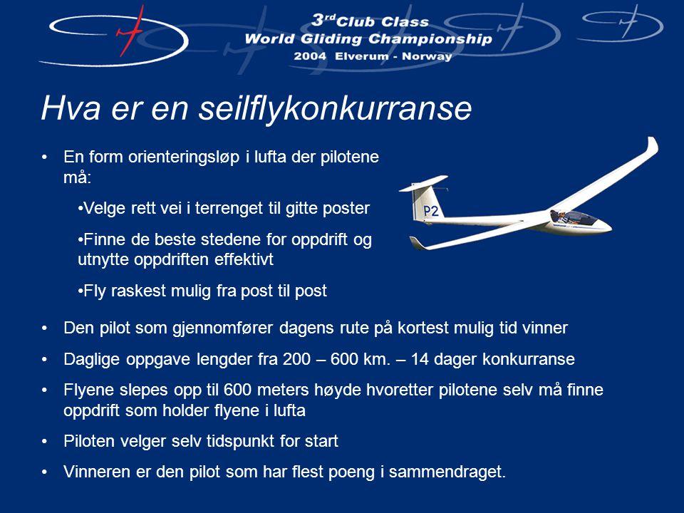 Det norske laget •Lagleder Jostein Døsen •PilotJo Inge Bjørø ASW-15 •PilotAnders Skifjeld LS-4 •PilotKato Kvitne Standard Cirrus •ReserveOle John Aske LS-7 WL