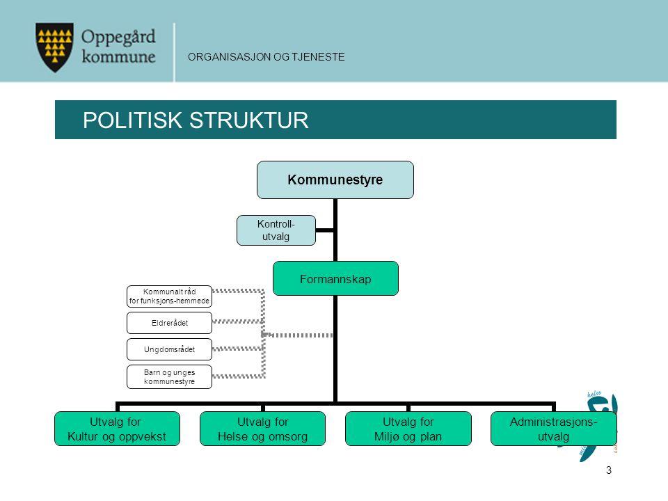 3 ORGANISASJON OG TJENESTE POLITISK STRUKTUR