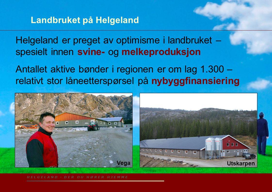H E L G E L A N D – D E R D U H Ø R E R H J E M M E Landbruket på Helgeland Helgeland er preget av optimisme i landbruket – spesielt innen svine- og m