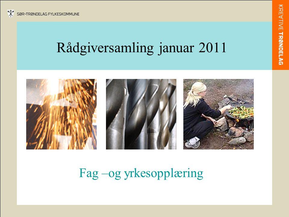 Rådgiversamling januar 2011 Fag –og yrkesopplæring