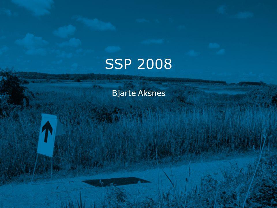 SSP 2008 www.kith.no Grov oversikt – SSP •SSP-tilskuddet dekker: •Driftstiltak •Prosjekter/Utviklingstiltak •Andre tiltak (eResept, programledelse, reiser)