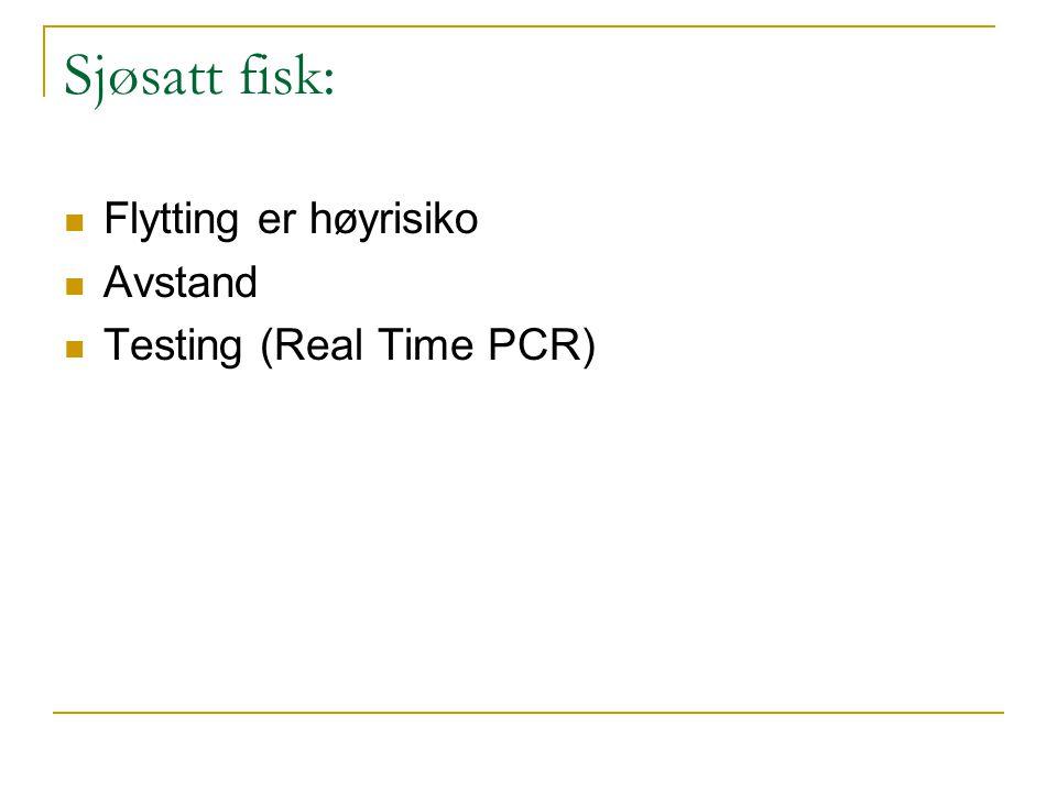 Sjøsatt fisk:  Flytting er høyrisiko  Avstand  Testing (Real Time PCR)