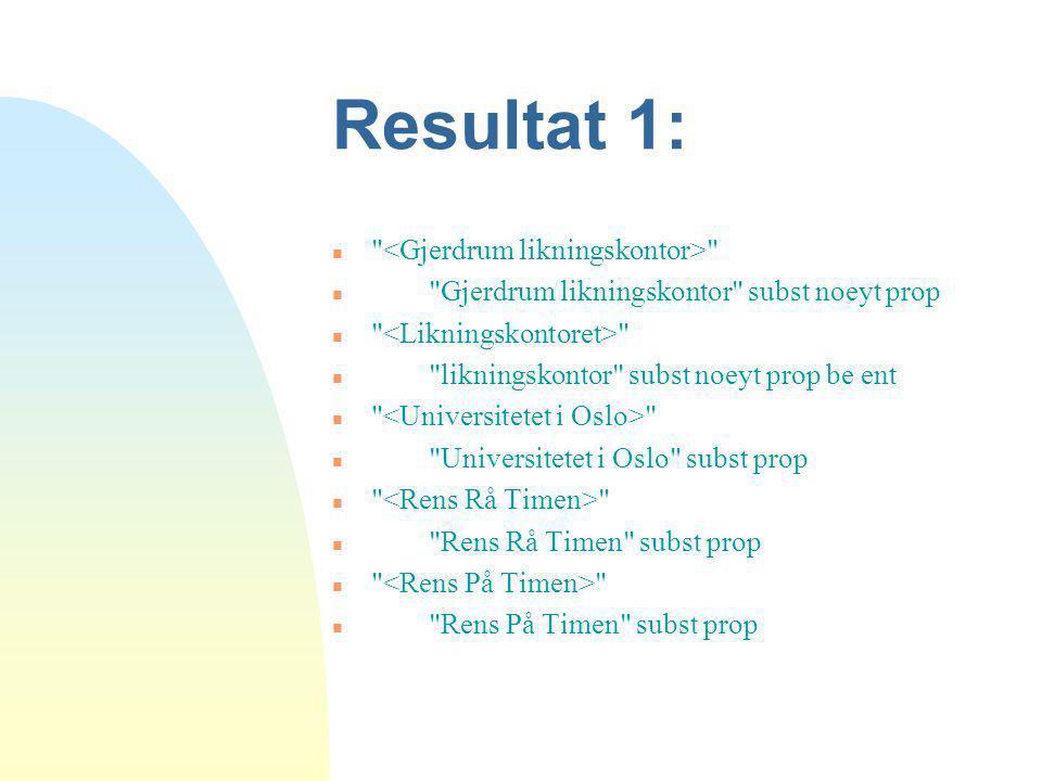 Resultat 1: n
