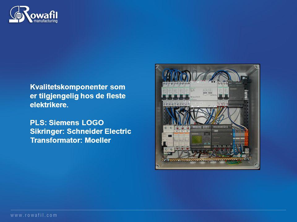 Kvalitetskomponenter som er tilgjengelig hos de fleste elektrikere.