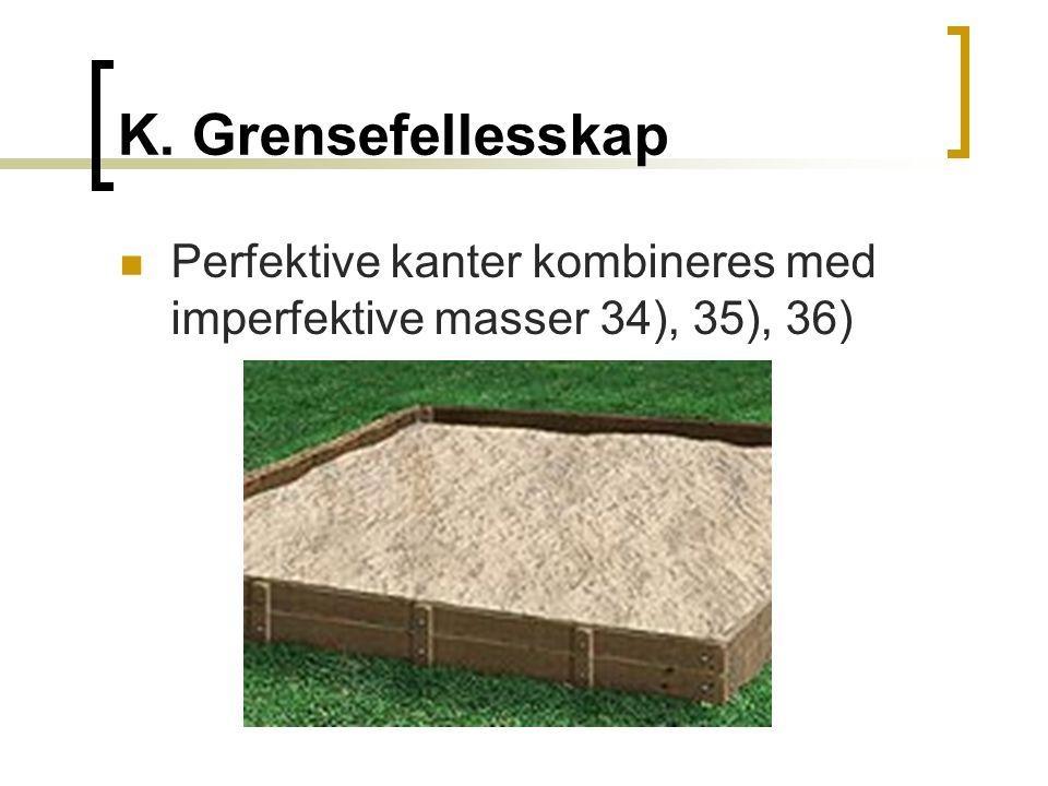 K. Grensefellesskap  Perfektive kanter kombineres med imperfektive masser 34), 35), 36)
