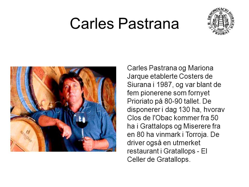 Carles Pastrana og Mariona Jarque etablerte Costers de Siurana i 1987, og var blant de fem pionerene som fornyet Prioriato på 80-90 tallet. De dispone