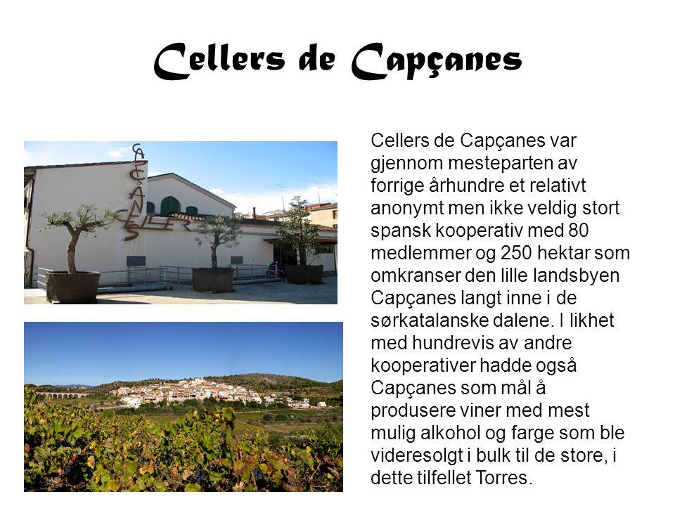 Cellers de Capçanes Cellers de Capçanes var gjennom mesteparten av forrige århundre et relativt anonymt men ikke veldig stort spansk kooperativ med 80
