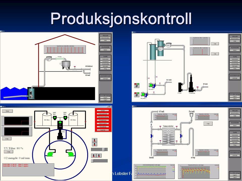 © Norwegian Lobster Farm AS 9 Produksjonskontroll